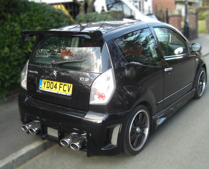 Black Citroen C2 Rebuild - Back