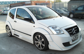 Customised Citroen C2 - full bodykit and respray